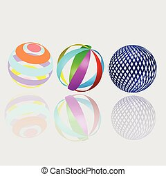 Abstract geometry spheres - Absrtact spheres 3D elements...