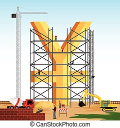 structure building of Yuan - vector illustration of...