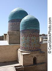 Inside Khiva - Minarets inside Khiva