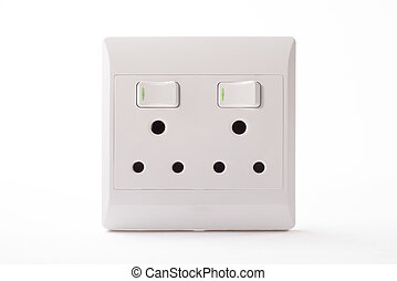 Double Wall Plug - A double wall plug for a three point plug...