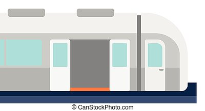 Modern high speed train - Modern high speed train vector...