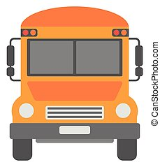 Yellow school bus - Yellow school bus vector flat design...