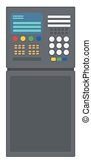 Industrial control panel vector flat design illustration...