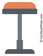 Brown bar stool - Brown bar stool vector flat design...
