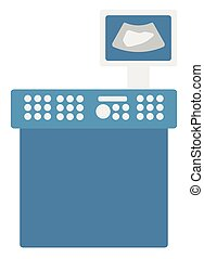 Medical ultrasound equipment vector flat design illustration...