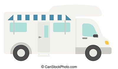 Modern camper van
