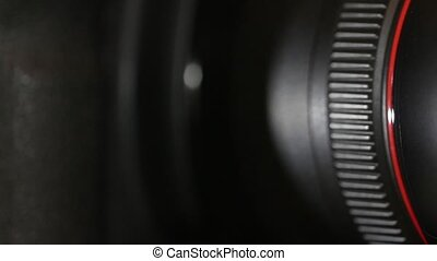 camera lens closeup - camera lens aperture macro shot