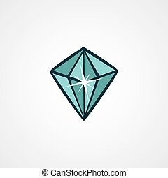 crystal clear diamond theme vector art illustration