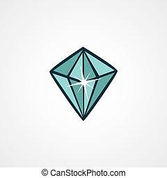 crystal clear diamond theme vector art illustration