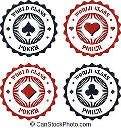 poker label badge theme vector art illustration