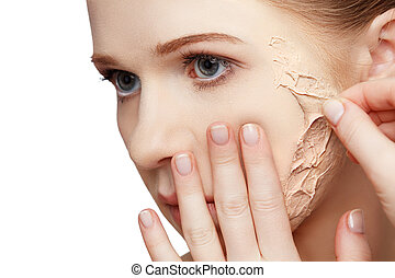 beauty concept rejuvenation, renewal, skin care, skin problems