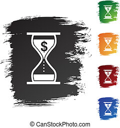 201004141103-money-hourglass - Interest Rate Charges