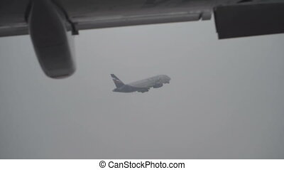Plane takeoff airport - Big plane takeoff from airport