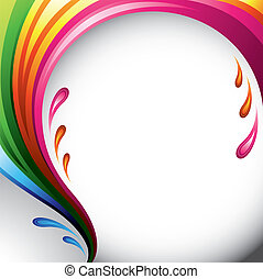 Color splash background - A splash of various colors -...