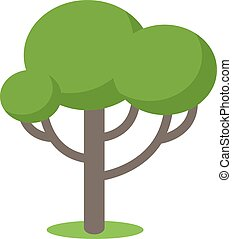 Cartoon tree vector illustration isolated on white...