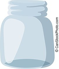 Empty glass bank blank jar classic home dishes vector....