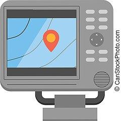 Car navigator mobile gps navigation vector flat illustration...