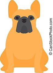 Shepherd retriever dog domestic animal vector illustration -...