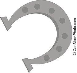 Horseshoe vector illustration isolated on white - Horseshoe...