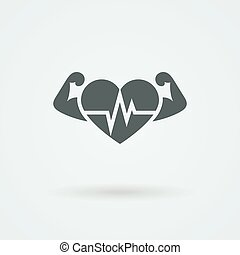 Vector Heart Icon. Single Object. Symbol for Interface. -...
