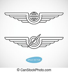 Aviation emblems, badges and logo patches