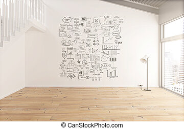 Interior with business concept - Interior design with...