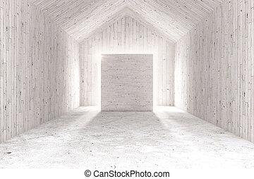 White interior with board