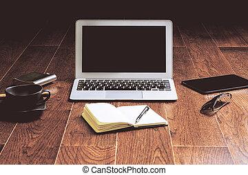 Trä,  laptop, golv