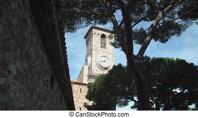 St Pierre and St Paul Church tower in Cannes, France
