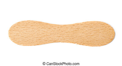 Wooden ice-cream stick isolated over the white background
