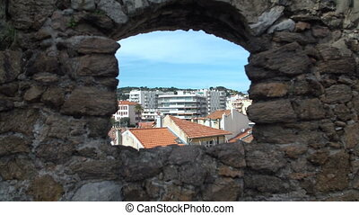 St Pierre and St Paul Church tower in Cannes, France.