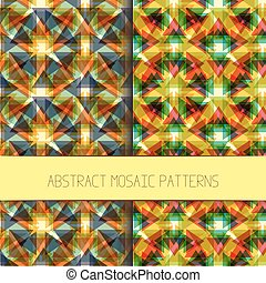 Abstract mosaic patterns collection Set of colorful modern...
