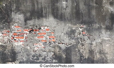 texture old concrete brick wall - Video texture of the old...