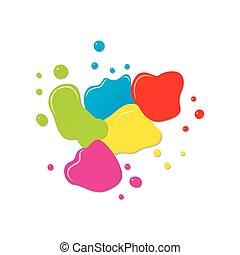 color splash background design - abstract color splash...