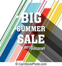 big summer sale banner deisgn - colorful big summer sale...