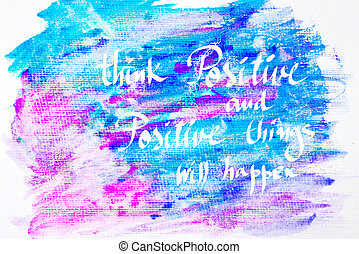Inspirational abstract water color background -...