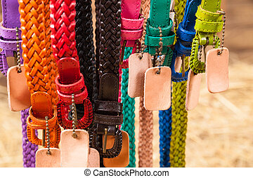 colored waist belts