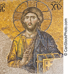 Byzantine Mosaic - Jesus Christ mosaic of byzantine era at...