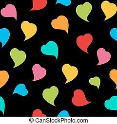 Happy Valentines Day Seamless Pattern Background with Heart. Vec