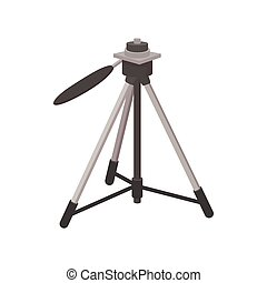 Tripod icon, cartoon style - Tripod icon in cartoon style...
