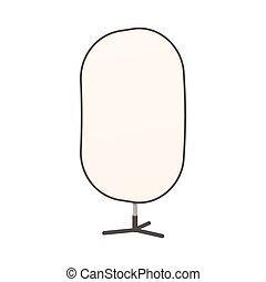 Studio reflector icon, cartoon style - Studio reflector icon...
