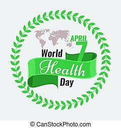 Creative World Health Day Greeting stock vector. Red ribbon...