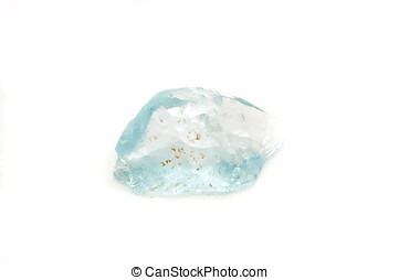 beryl crystal sample - light blue beryl jewel cut crystal on...