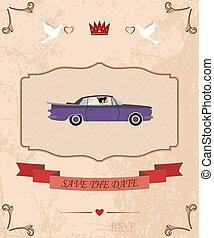 pair of lovers in a cabriolet