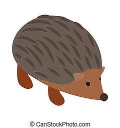 Hedgehog icon, isometric 3d style - Hedgehog icon in...