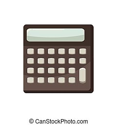 Calculator icon, cartoon style - Calculator icon in cartoon...