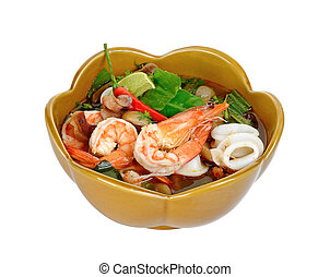 Thai Food Tom Yum Goong background