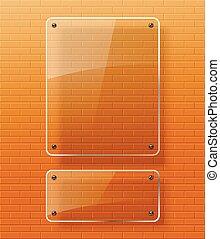 Glass framework .Vector illustration.