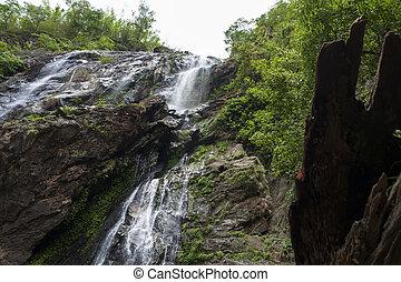 Khlong Lan Waterfall in Klong Lan National Park, Kamphaeng...