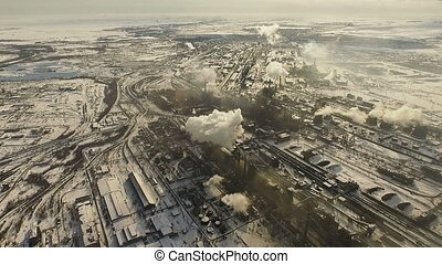 Metallurgical plant. Air pollution.